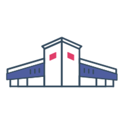 Icon of factory to represent manufacturing