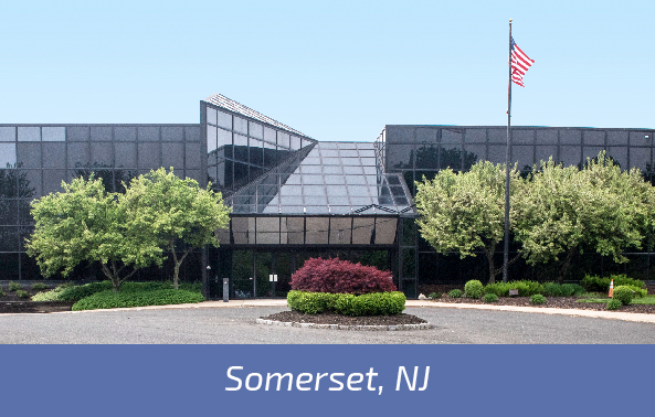 Aerial photograph of Somerset, NJ manufacturing facility